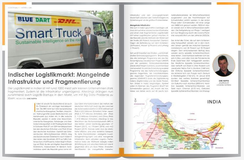 Indischer Logistikmarkt: Mangelnde Infrastruktur und Fragmentierung